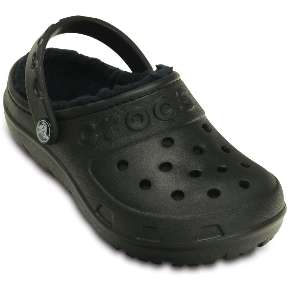 CROCS Kids' Hilo Lined Clogs - BLACK