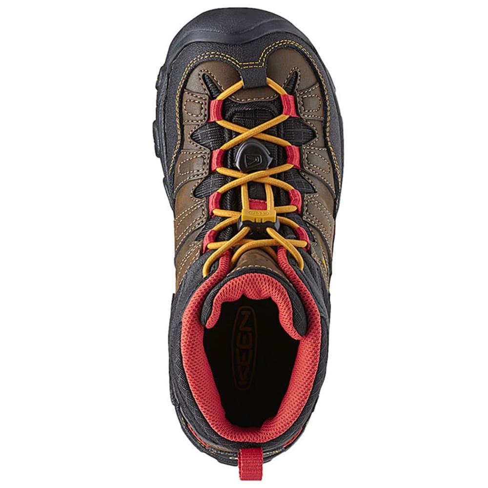 KEEN Boys' Pagosa Mid Waterproof Boots, 3-6 - BROWN