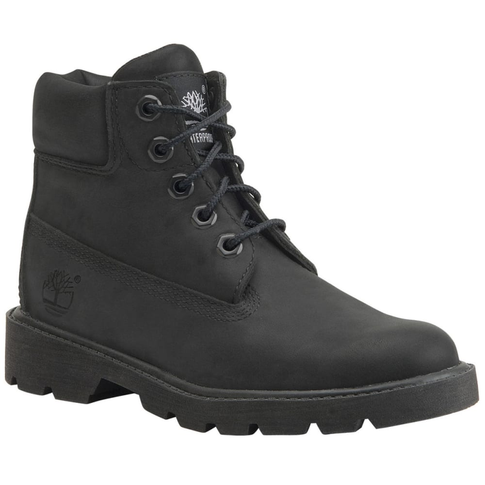 TIMBERLAND Boys' Classic Waterproof Boots, 4-7 - BLACK