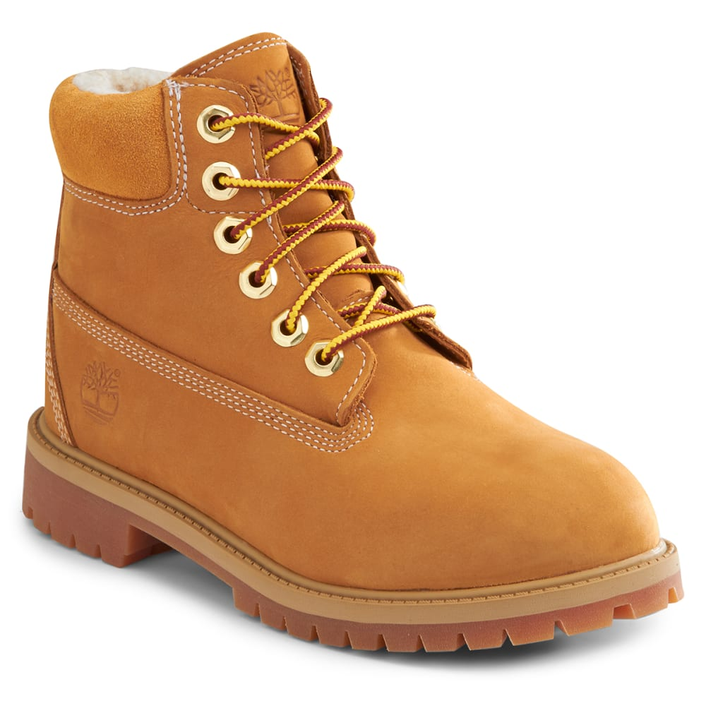 """TIMBERLAND Children's 6"""" Premium Waterproof Boot with Faux Sherling 4"""