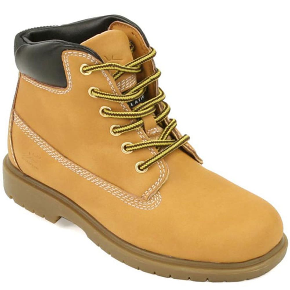 DEER STAGS Boys' Mak2 Waterproof Work Boots, Wheat, 2-2.5 - WHEAT