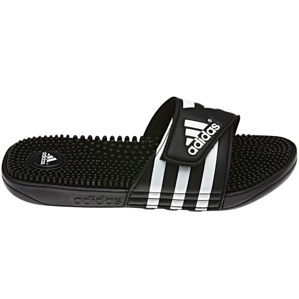 ADIDAS Men's Adissage Slides - BLK/BLK/WHITE-F35580