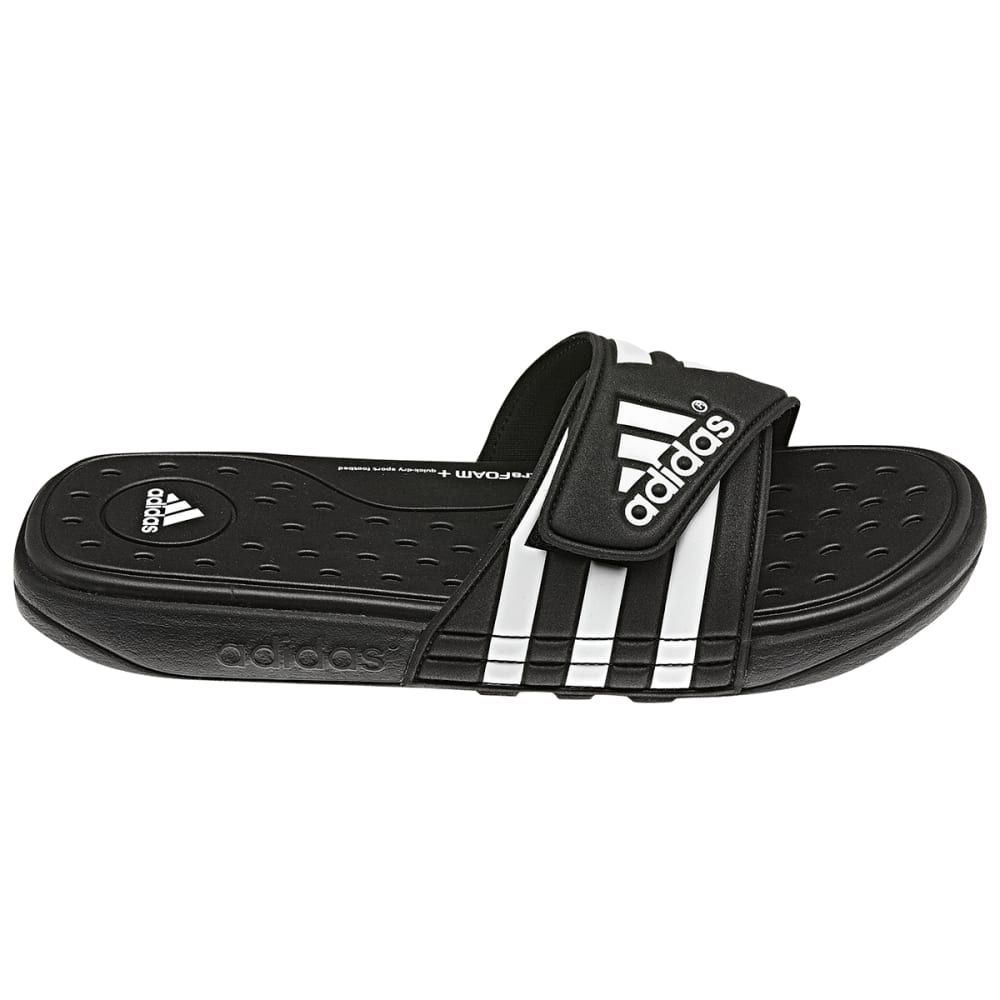 ADIDAS Men's Adissage SUPERCLOUD™ Slides - BLACK/WHITE / G19102