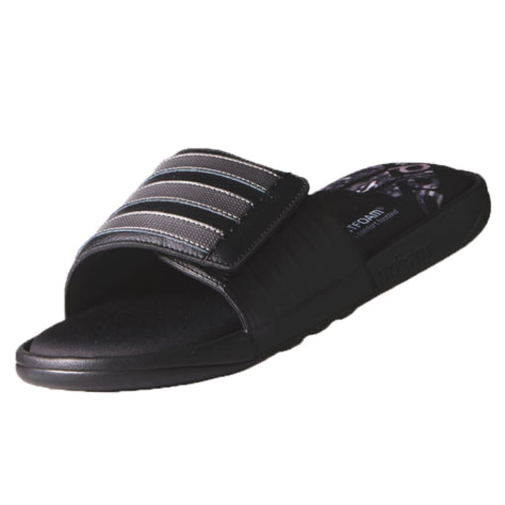 ADIDAS Men's Adissage Comfort Slides - BLACK