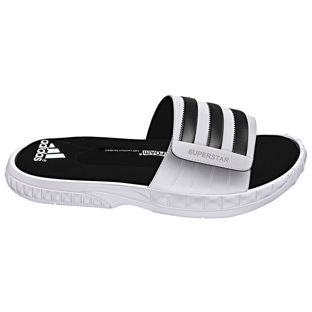 Adidas Men's Superstar 3G Slides - White, 12