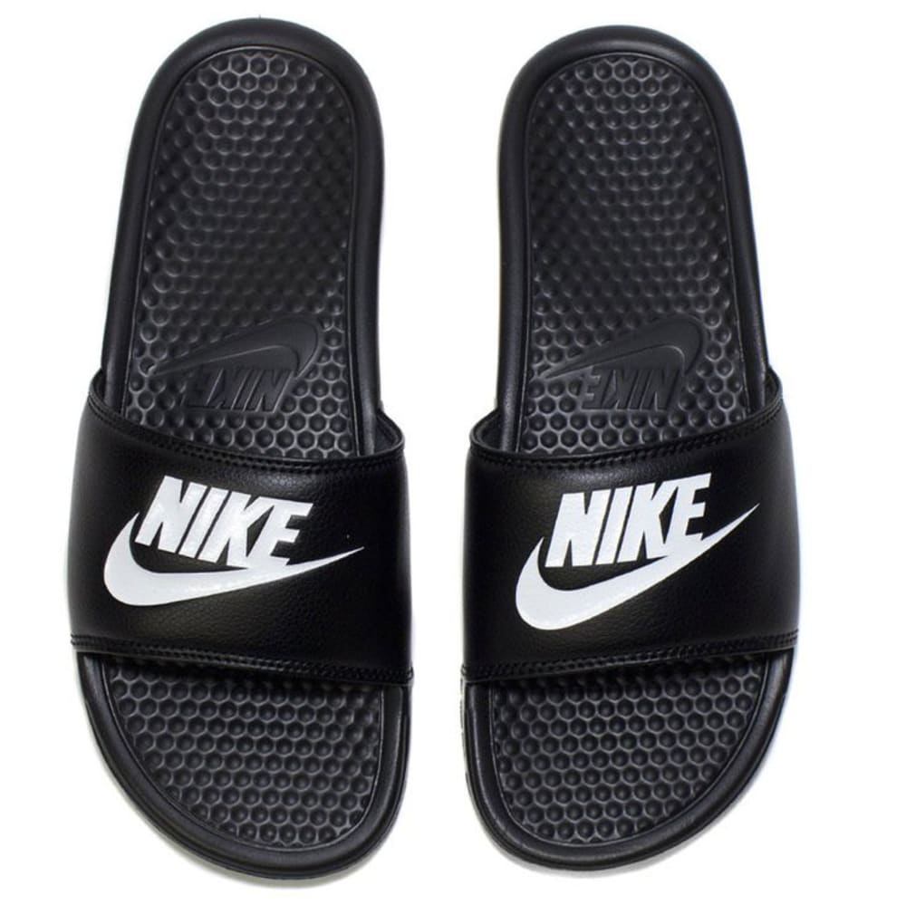 NIKE Men's Benassi Just Do It Slide Sandals - BLACK