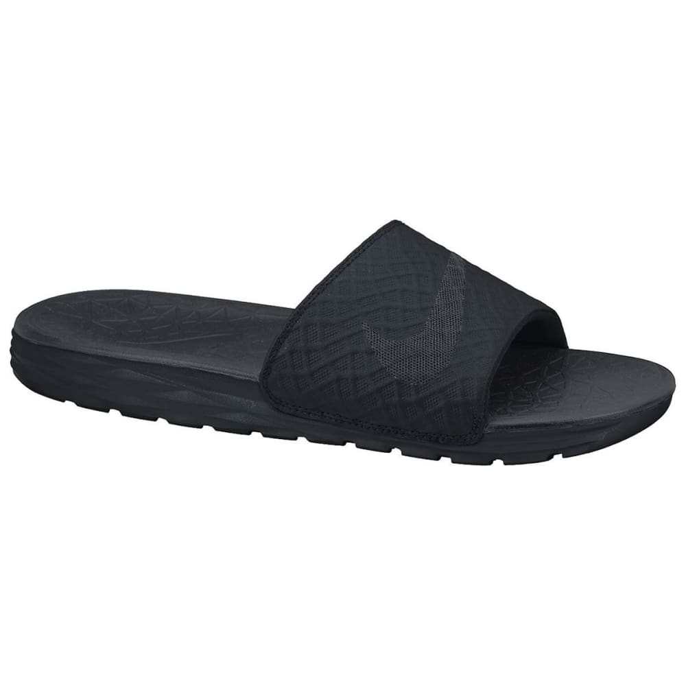 NIKE Men's Benassi Solarsoft 2 Slide Sandals - BLACK