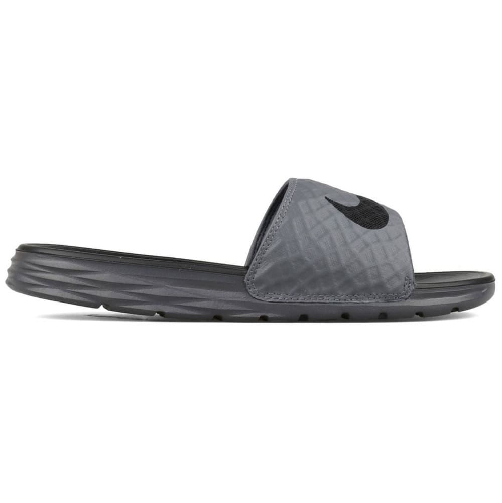 NIKE Men's Benassi Solarsoft 2 Slide Sandals - DK GRAY