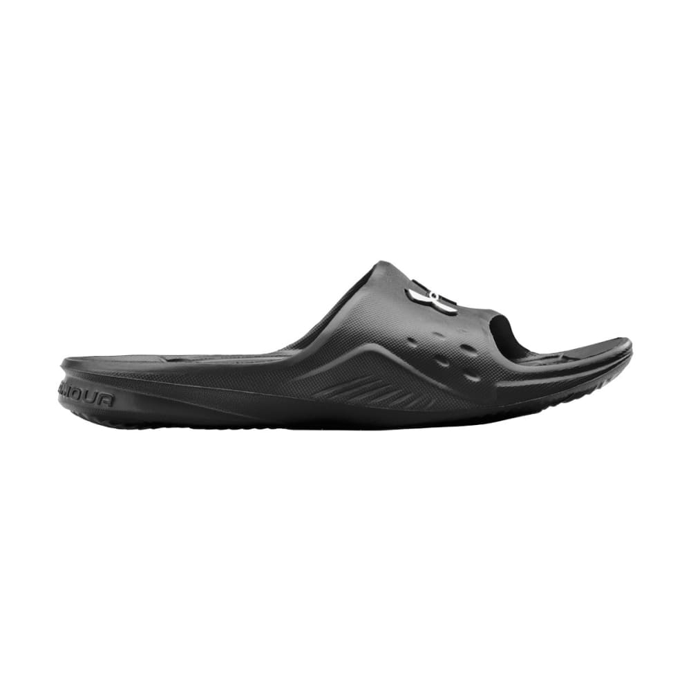 UNDER ARMOUR Men's Locker Slides - BLACK/SILVER