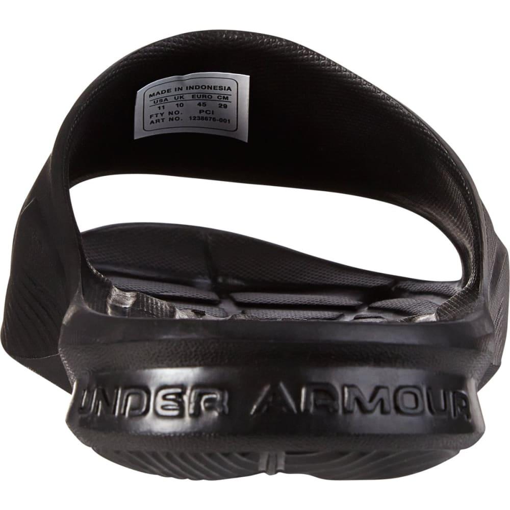 UNDER ARMOUR Men's Locker Slides - BLACK/SILVER