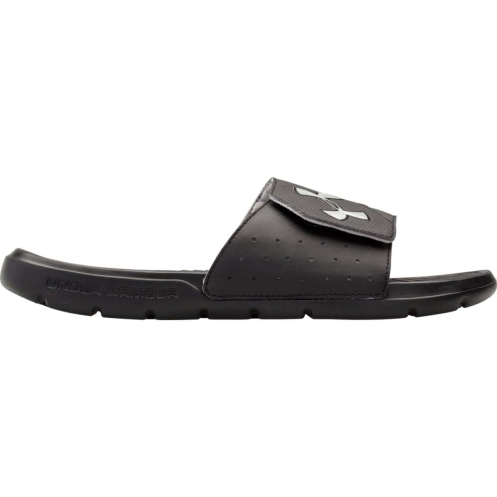 UNDER ARMOUR Men's Playmaker V Sandals - BLACK/SILVER