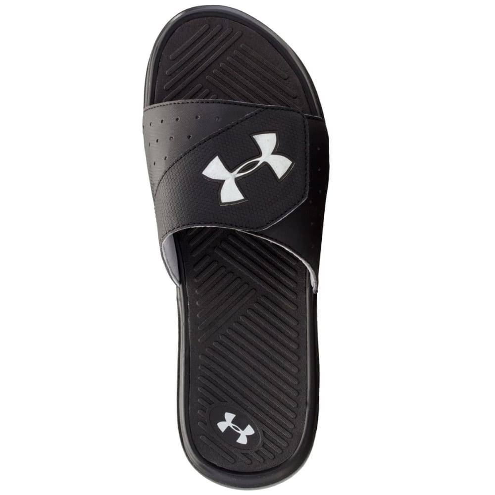 UNDER ARMOUR Men's Playmaker V Sandals - BLACK/SILVER