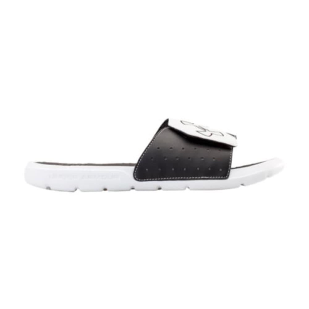 UNDER ARMOUR Men's Playmaker V Sandals - WHITE/BLACK