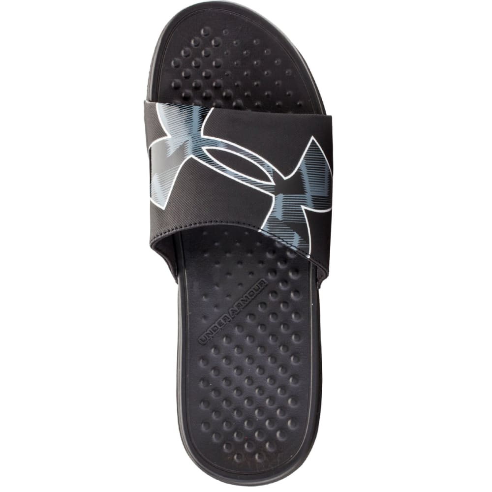 UNDER ARMOUR Men's Strike Warp Sandals - BLACK