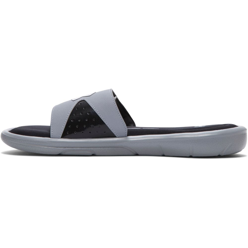 UNDER ARMOUR Men's Ignite IV Slide Sandals - STEEL/BLACK