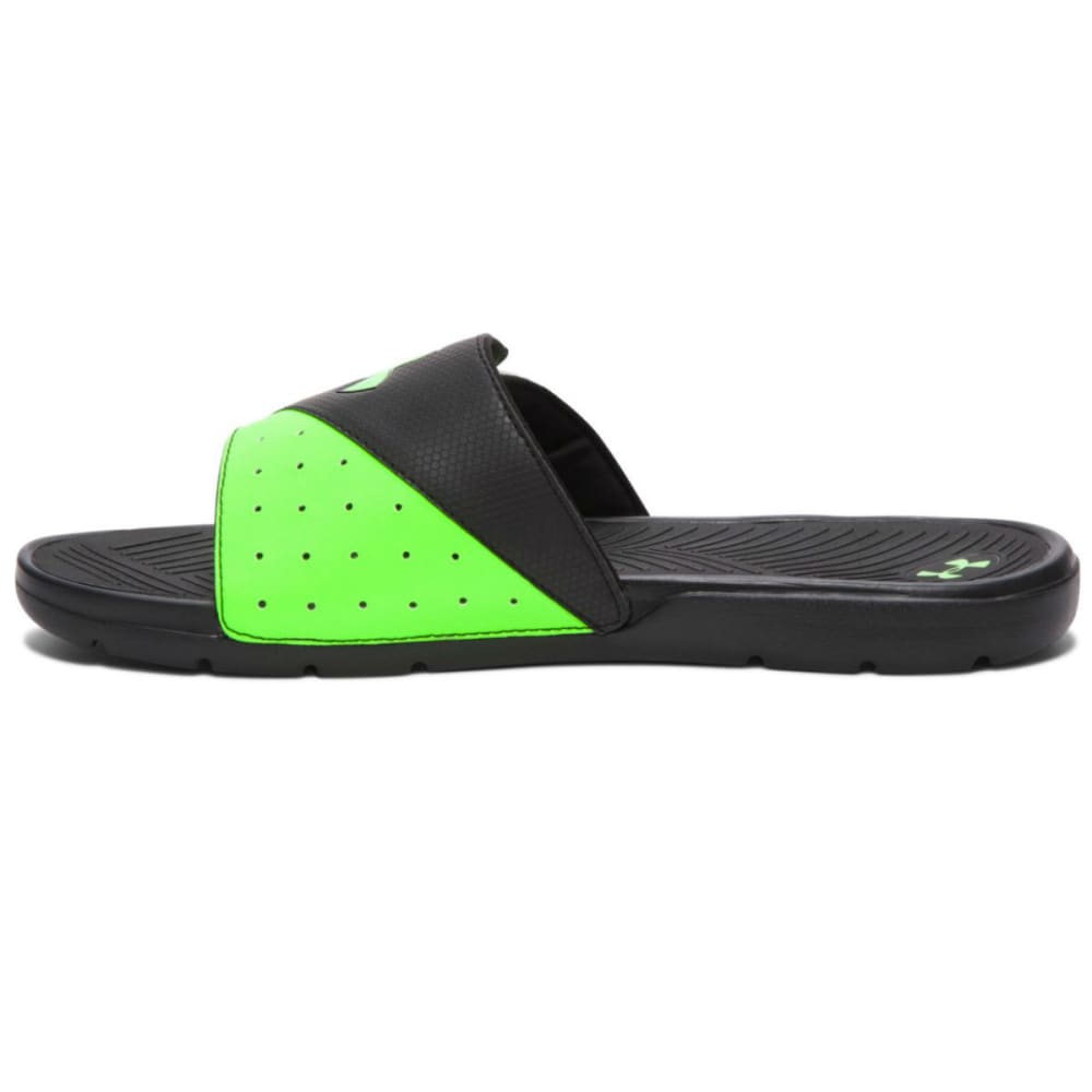 UNDER ARMOUR Men's Playmaker V Slide Sandals - DRAGONFLY