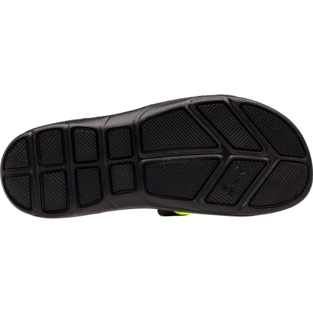 UNDER ARMOUR Men's Ignite Banshee II Slides - BLACK PTRND