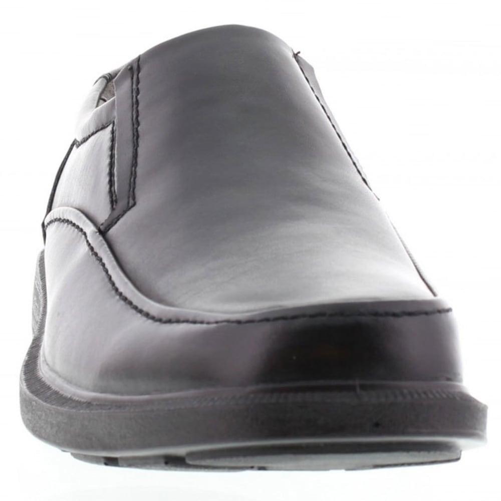 DEER STAGS Men's Brooklyn Slip-On Dress Shoes, Wide - BLACK