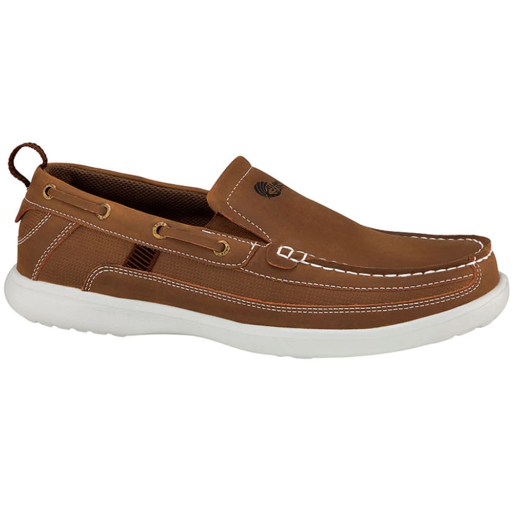 ISLAND SURF Men's Pier Slip-On Boat Shoes - BROWN