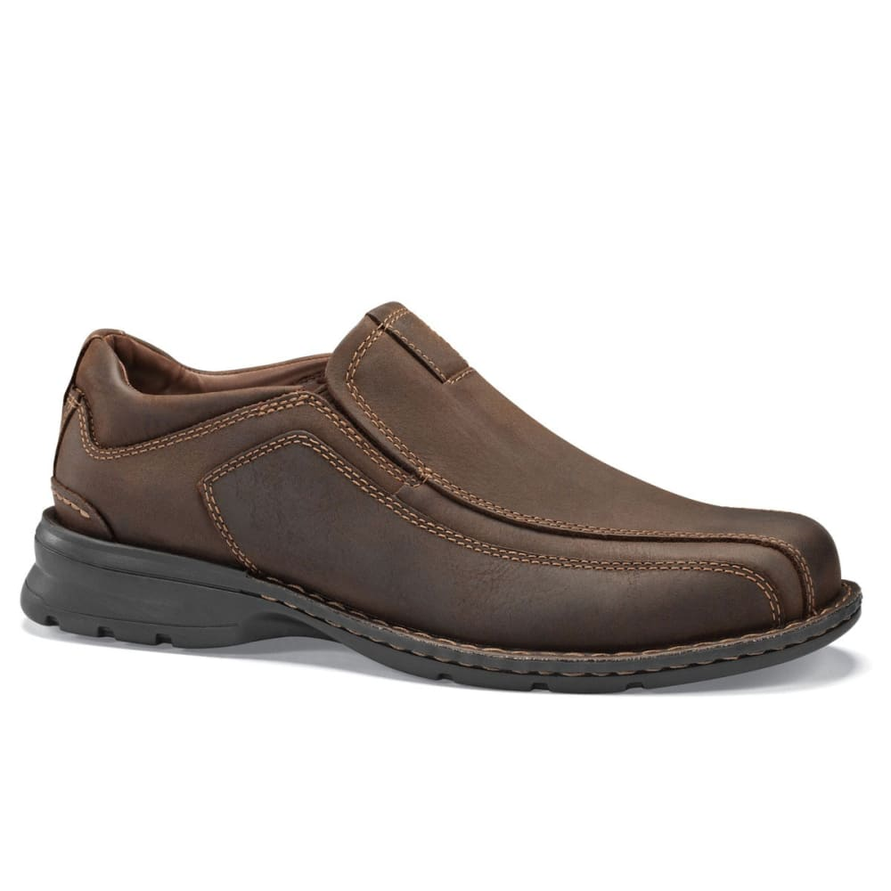 DOCKERS Men's Agent Slip-On Shoes - SMOKEY BROWN/OLIVE