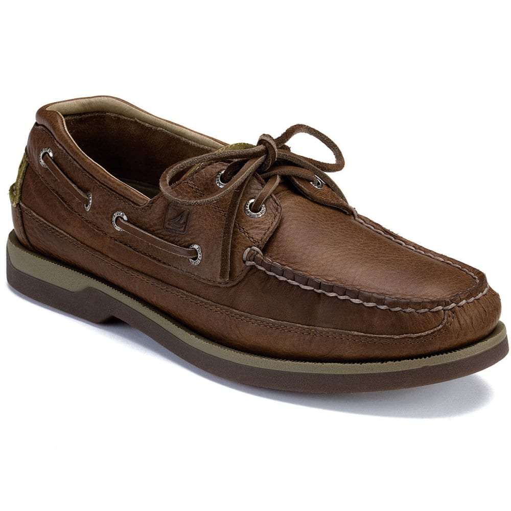 SPERRY Men's Mako 2-Eye Canoe Moc Boat Shoes - BROWN