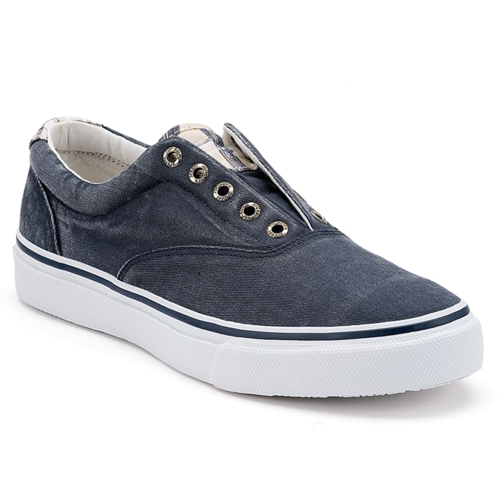 SPERRY Men's Striper CVO Salt Washed Twill Sneakers - NAVY - 1048024