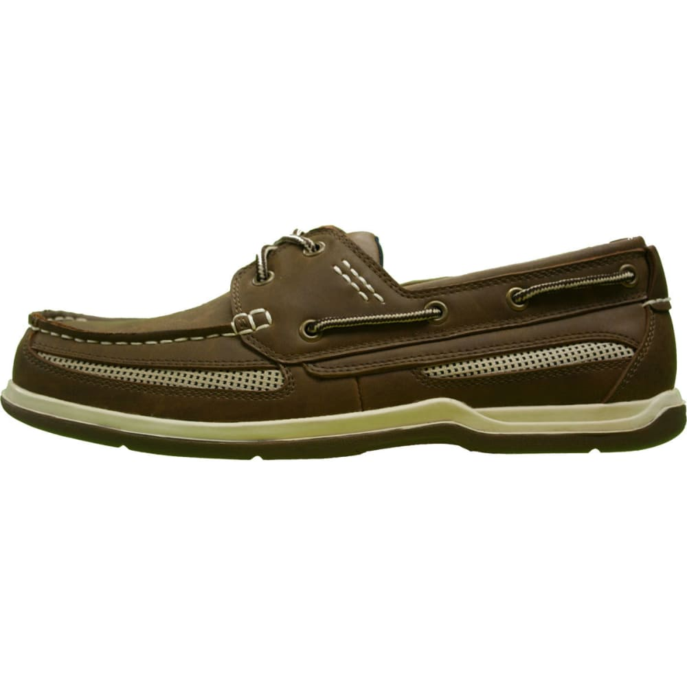 ISLAND SURF Men's Cod Boat Shoes, Dark Brown - BROWN