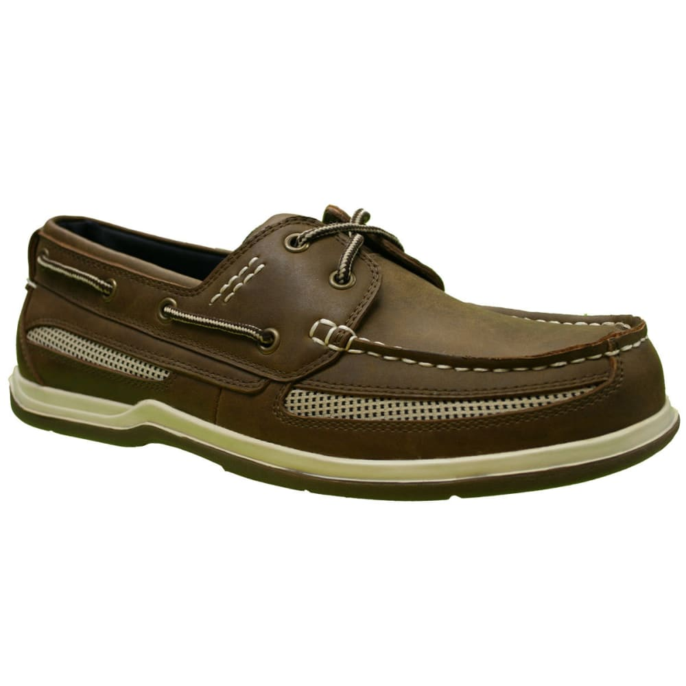 ISLAND SURF Men's Cod Boat Shoes, Dark Brown - BROWN