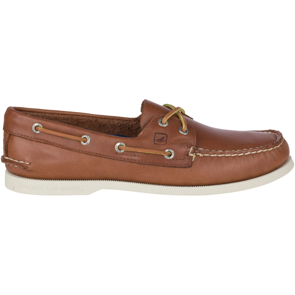 SPERRY Men's Authentic Original 2-Eye Boat Shoes, Tan, Wide - BEIGE-TAN