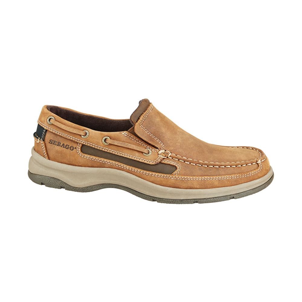 SEBAGO Men's Blue Fin Slip-On Boat Shoes, Chocolate - CHOCOLATE