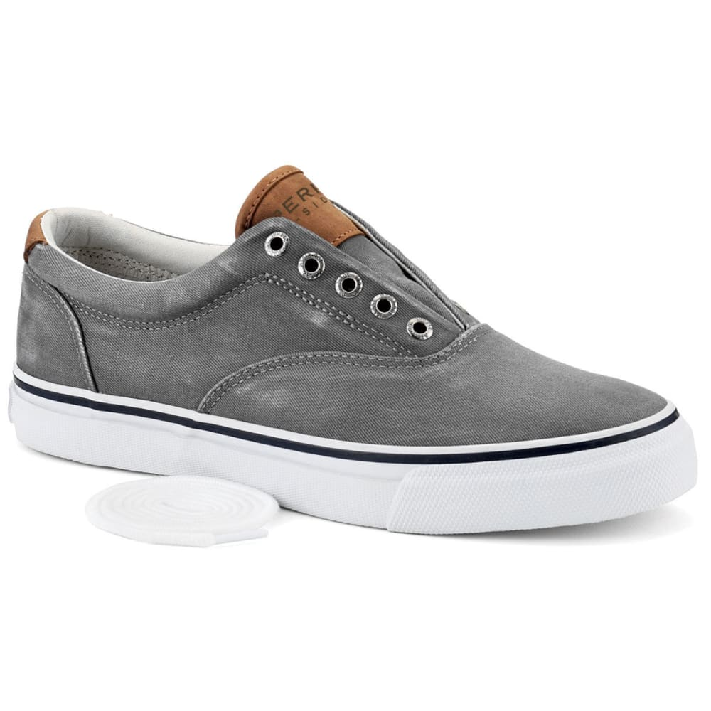 SPERRY Men's Striper CVO Salt Washed Twill Sneakers - LIGHT GREY