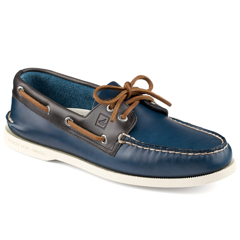 SPERRY Men's Authentic Original 2-Eye Boat Shoes - NAVY/GREY