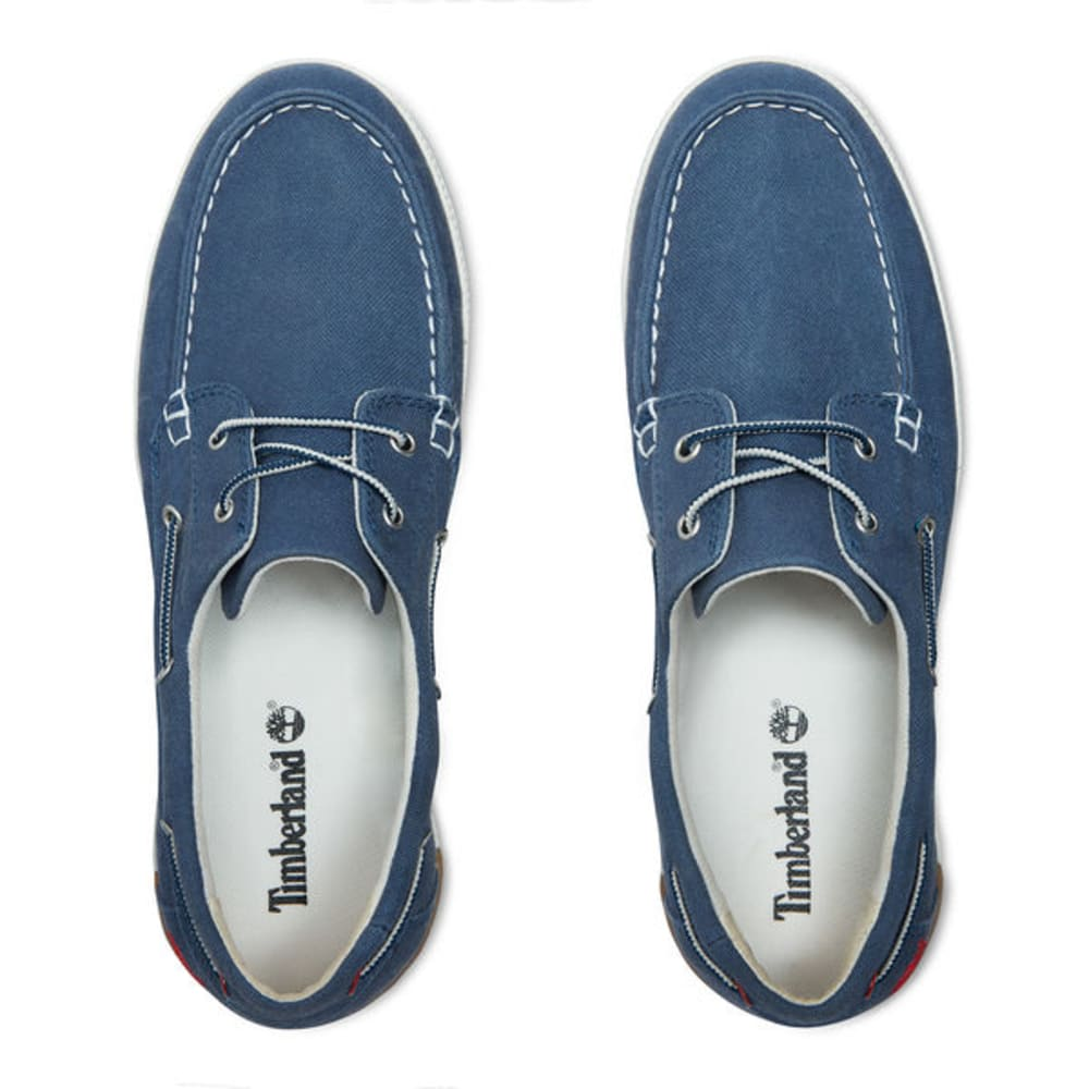 TIMBERLAND Men's Newport Bay Canvas Boat Shoes, Navy Washed - NAVY