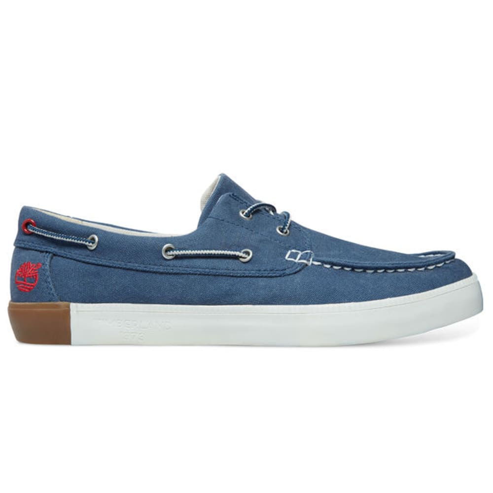 TIMBERLAND Men's Newport Bay Canvas Boat Shoes, Navy Washed