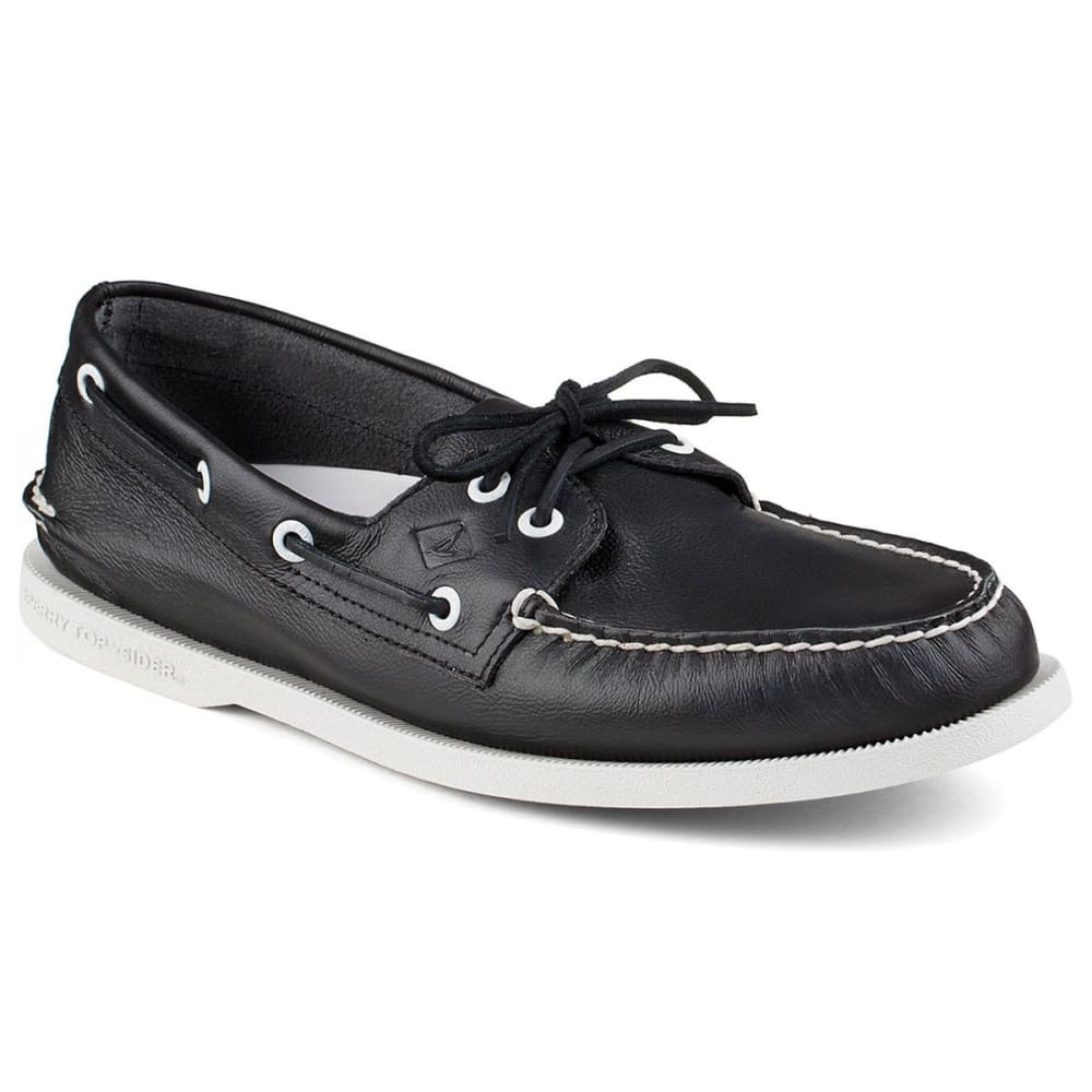 SPERRY TOP-SIDER Men's Authentic Original 2-Eye Boat Shoes - BLACK