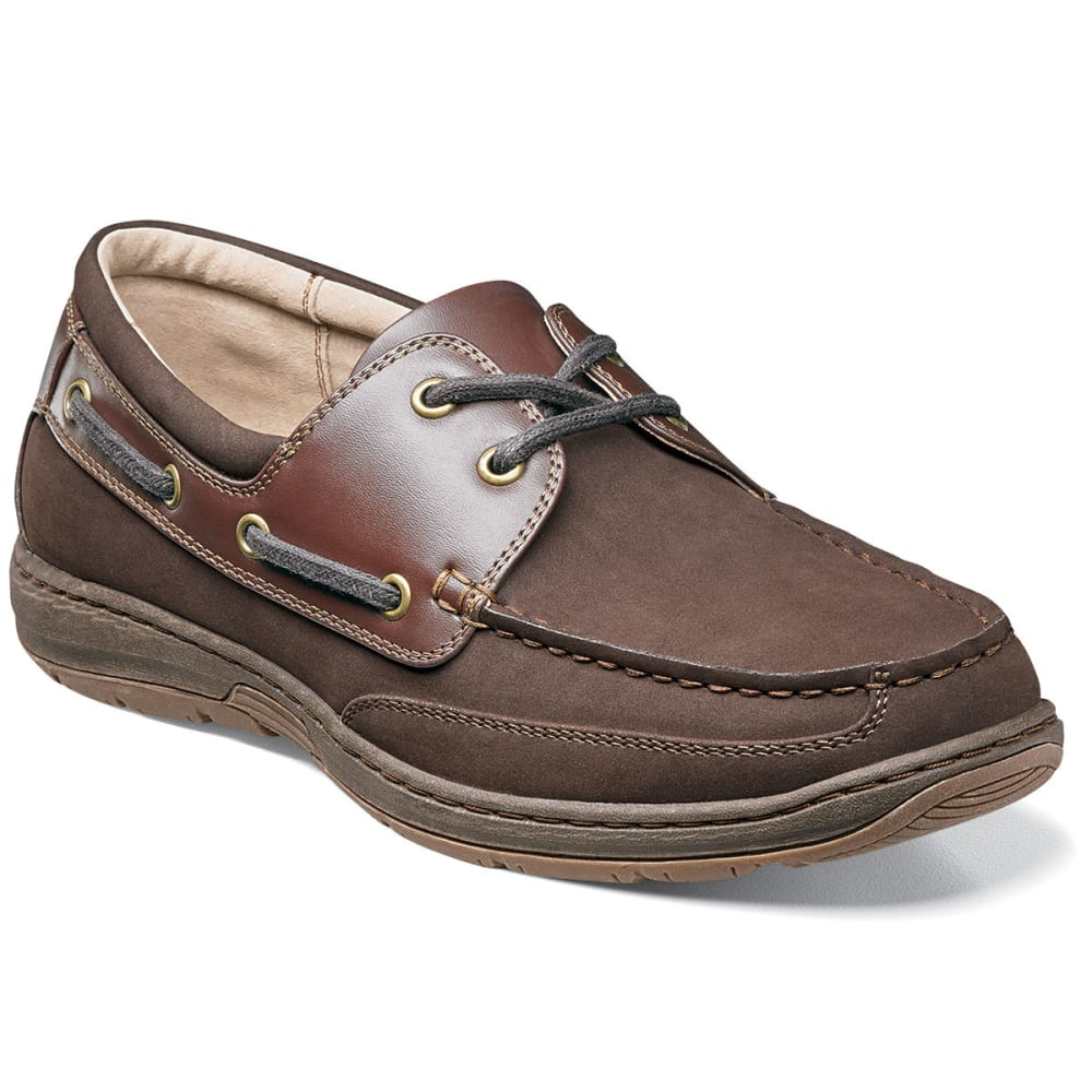 NUNN BUSH Men's Outrigger Shoes - DARK BROWN