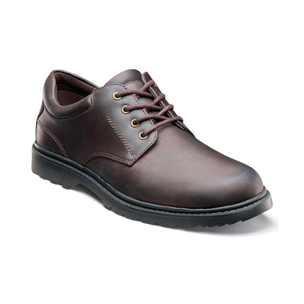 NUNN BUSH Men's Stillwater Plain Toe Waterproof Shoes, Brown - BROWN