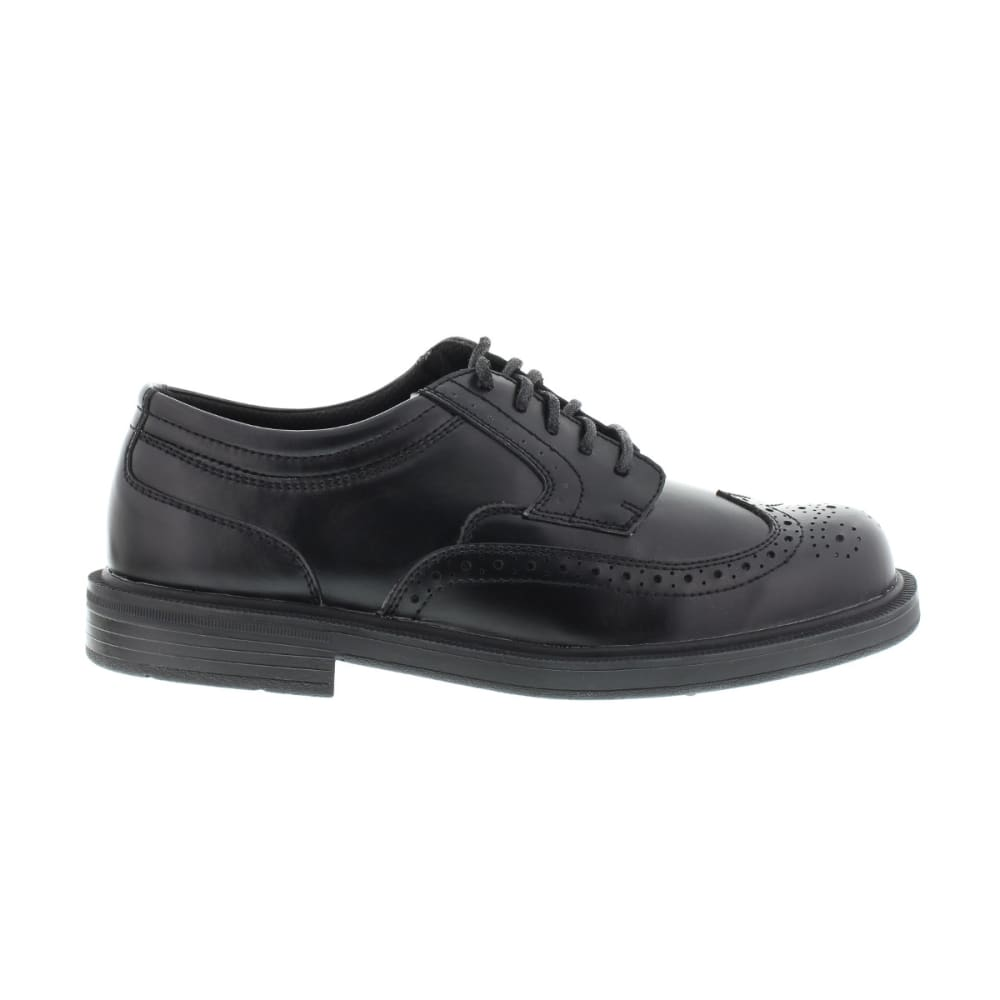 DEER STAGS Men's Tribune Wing-Tip Oxford Shoes - BLACK