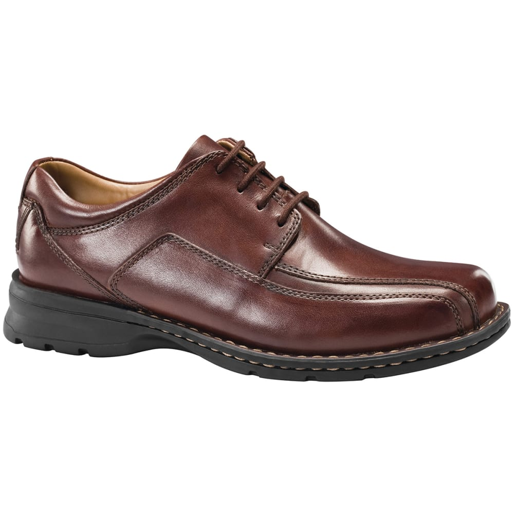 DOCKERS Men's Trustee Oxfords, Wide - CHESTNUT DISTRESSED