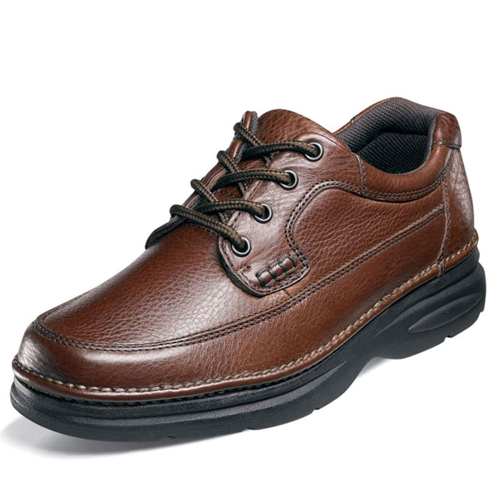 NUNN BUSH Men's Cameron Moc Toe Oxford Shoes, Wide - BROWN