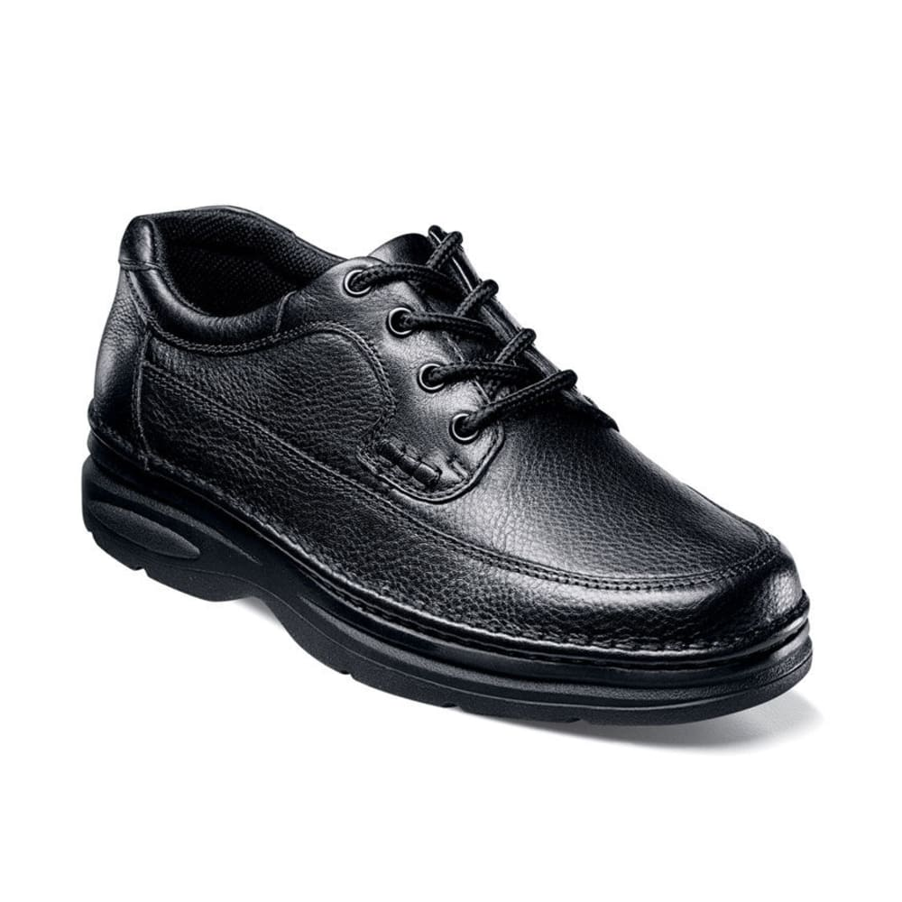 NUNN BUSH Men's Cameron Moc Toe Oxford Shoes, Wide - BLACK