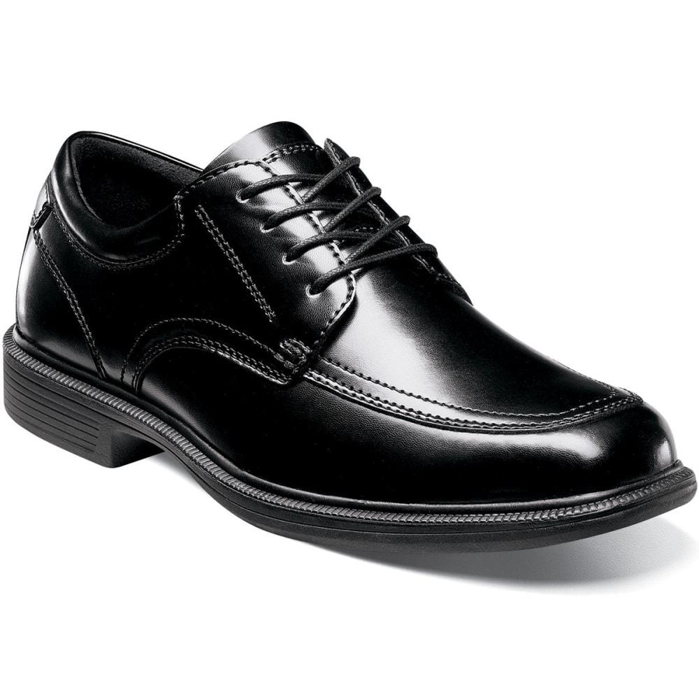 NUNN BUSH Men's Bourbon Street Dress Shoes, Wide - BLACK DISTRESSED