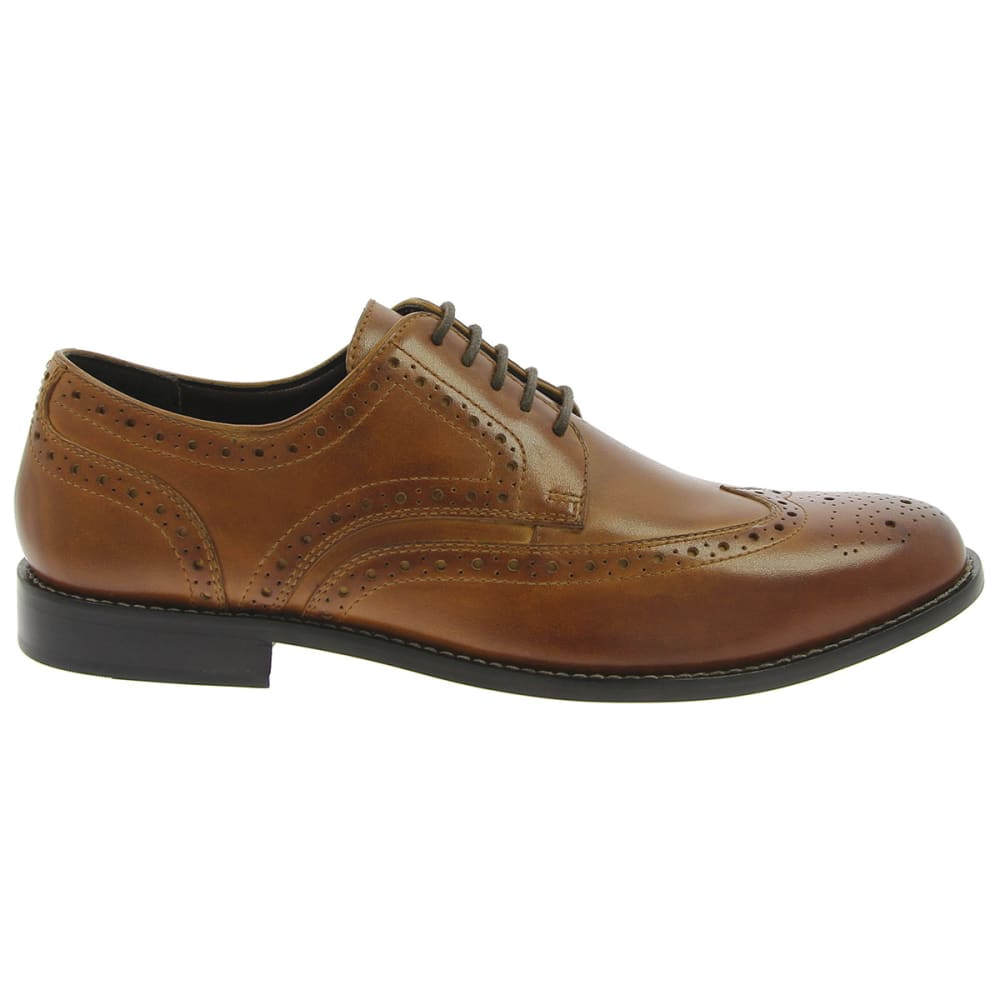 NUNN BUSH Men's Nelson Wingtip Oxford Dress Shoe - DARK TAUPE