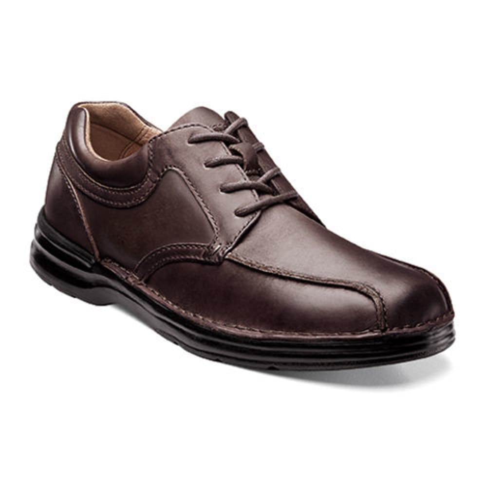 NUNN BUSH Men's Princeton Bicycle Toe Oxford Shoes - LUGGAGE