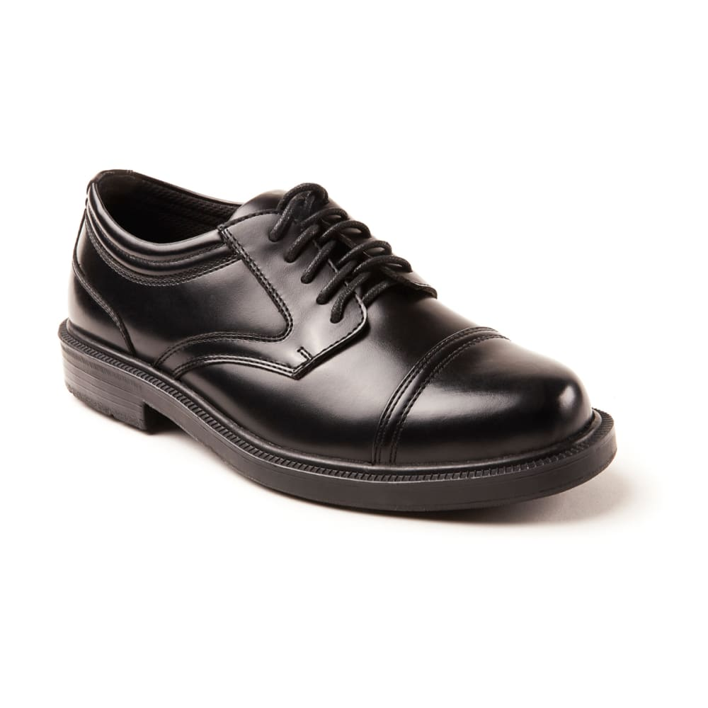 DEER STAGS Men's Telegraph Shoes, Wide - BLACK