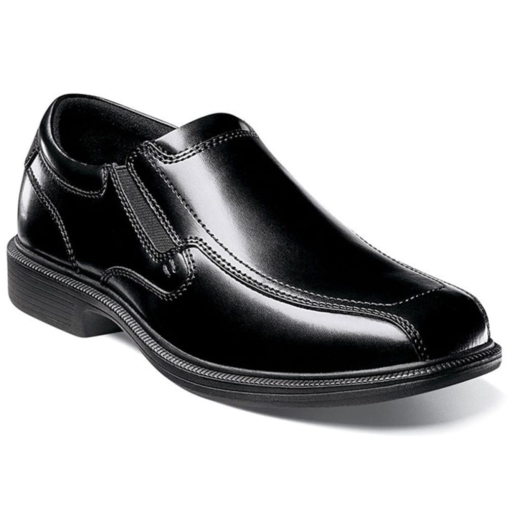 NUNN BUSH Men's Bleeker Street Bicycle Toe Oxford Slip On - BLACK