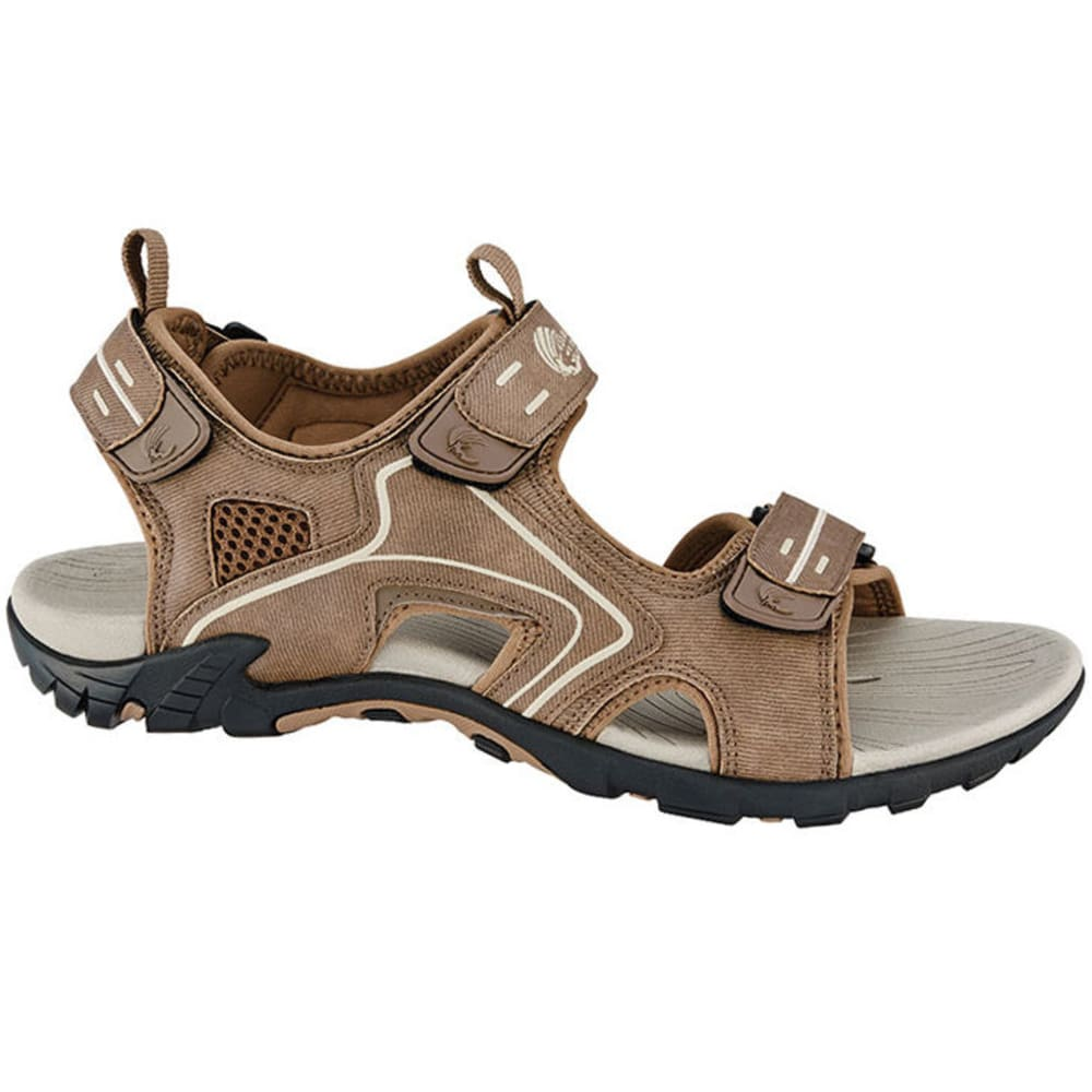 ISLAND SURF Men's Mako River Sandals, Brown - BROWN