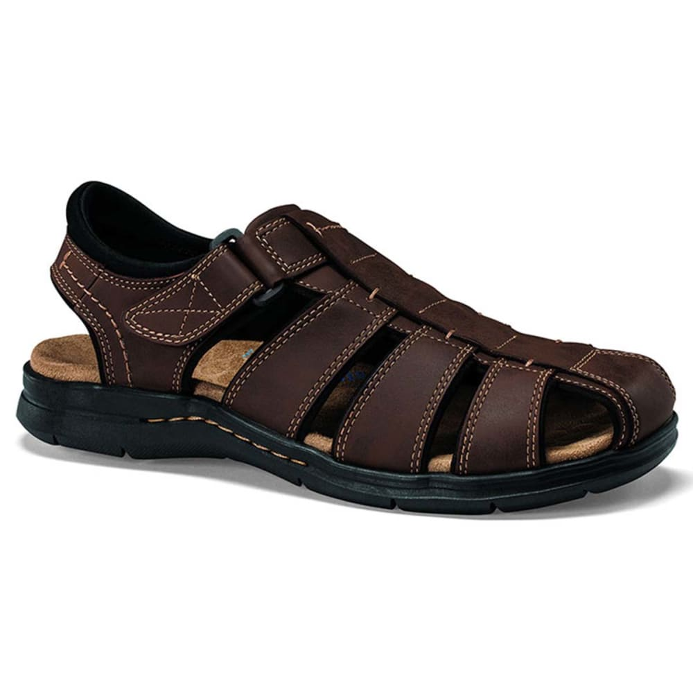 DOCKERS Men's Marin Closed Toe Sandals, Medium Width - BROWN