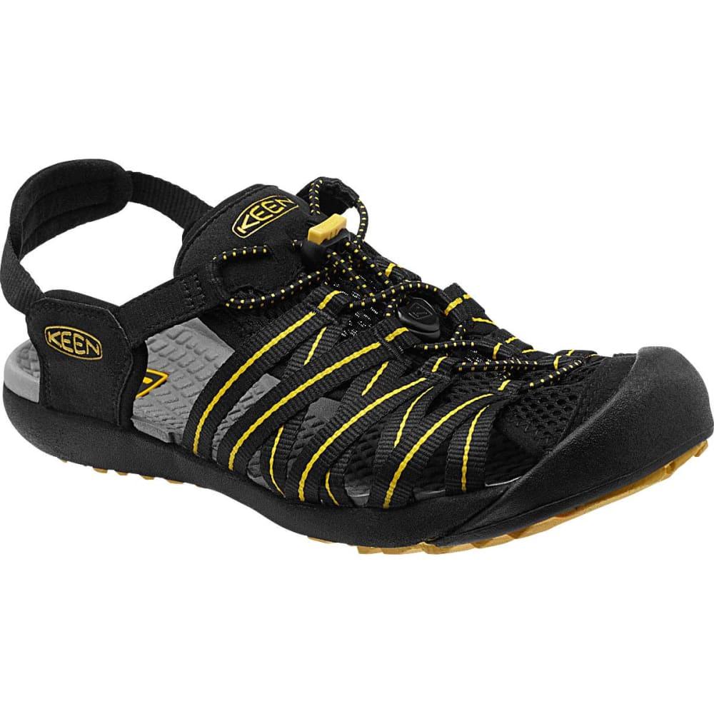 KEEN Men's Kuta Sandals - BLACK/YELLOW