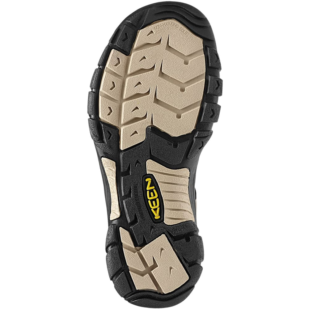 KEEN Men's Newport H2 Sandals - WHITE PEPPER/BLACK